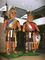 Satanic giants Gog and Magog.